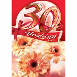 Karnet B6 na 30 urodziny...
