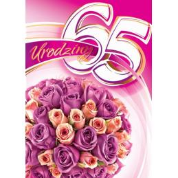 Karnet na 65-te urodziny...