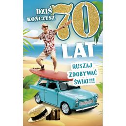 Karnet na 70 urodziny dla...