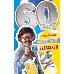 Karnet na 60 urodziny dla...