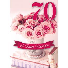 Karnet 3D na 70 urodziny...