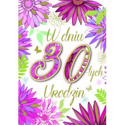 Karnet na 30 urodziny DK...