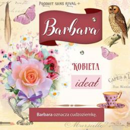 Karnet Imiennik Barbara...