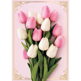 Karnet kwiatowy bez tekstu...
