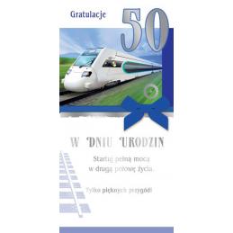 Karnet na 50-te urodziny SN...
