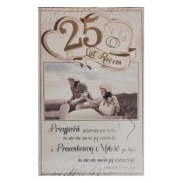 Kartka 25 rocznica ślubu...