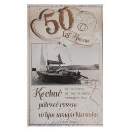 Kartka 50 rocznica ślubu...