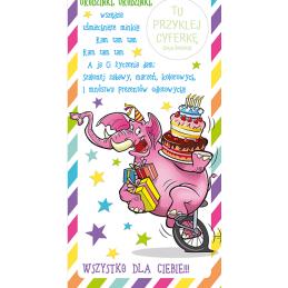 Karnet urodzinowy z...