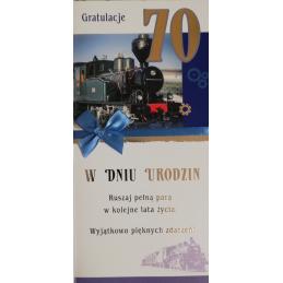 Karnet na 70-te urodziny SN...