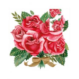 Karnet KW z zakładką róże...