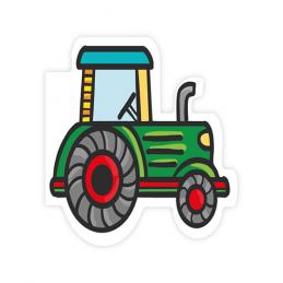 Karnet wycinany - traktor...