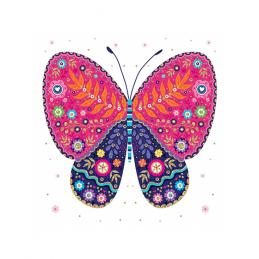 Karnet rozkładany KW Motyl...