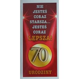 Kartka na 70 urodziny DL...
