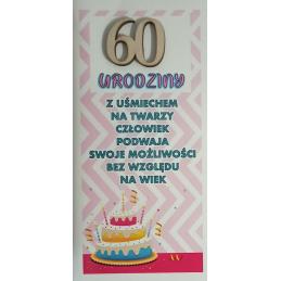 Kartka na 60 urodziny DL...