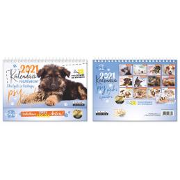 Kalendarz pocztówkowy Psy...
