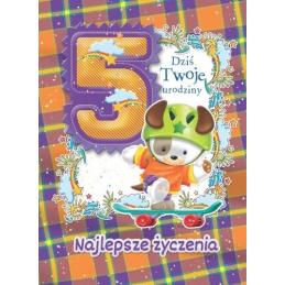Karnet na 5 urodziny dla...