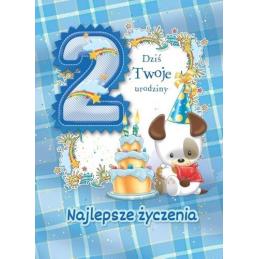 Karnet na 2 urodziny dla...