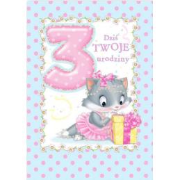 Karnet na 3 urodziny dla...