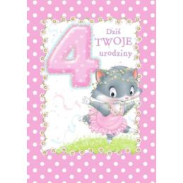 Karnet na 4 urodziny dla...
