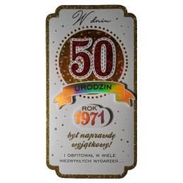 Karnet PM na 50 urodziny...