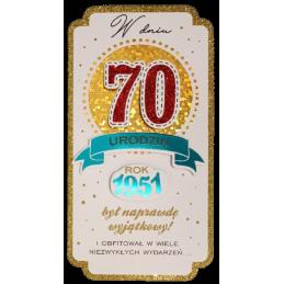 Karnet PM na 70 urodziny...
