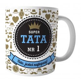 "Kubek ""Super Tata"" /Kukartka/"