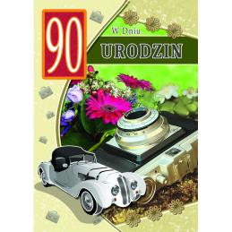Karnet na 90 urodziny B6...
