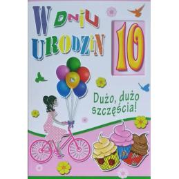 Karnet B6 na 10 urodziny...