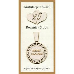 Karnet 25 Rocznica Ślubu...
